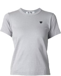 Camiseta con cuello circular gris de Comme des Garcons