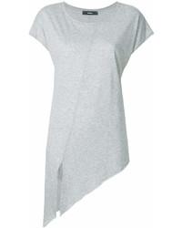 Camiseta con cuello circular gris de Diesel