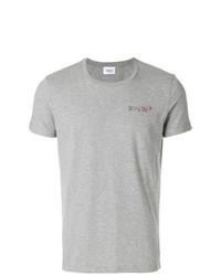 Camiseta con cuello circular gris de Dondup