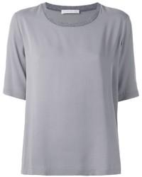 Camiseta con cuello circular gris de Fabiana Filippi