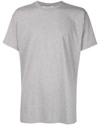 Camiseta con cuello circular gris de Givenchy