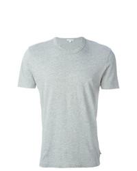 Camiseta con cuello circular gris de James Perse