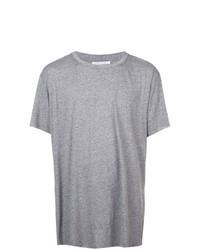 Camiseta con cuello circular gris de John Elliott
