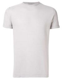 Camiseta con cuello circular gris de John Smedley