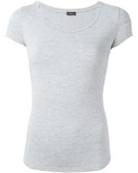 Camiseta con cuello circular gris de Joseph