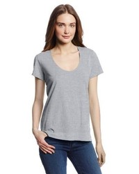 Camiseta con cuello circular gris de Made in LA