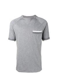 Camiseta con cuello circular gris de Natural Selection