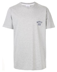 Camiseta con cuello circular gris de Norse Projects