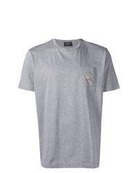 Camiseta con cuello circular gris de Paul & Shark