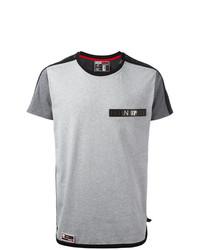 Camiseta con cuello circular gris de Plein Sport