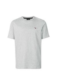 Camiseta con cuello circular gris de Ps By Paul Smith