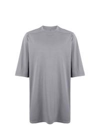 Camiseta con cuello circular gris de Rick Owens DRKSHDW