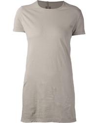 Camiseta con cuello circular gris de Rick Owens