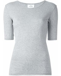 Camiseta con cuello circular gris de THE WHITE BRIEFS