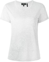 Camiseta con Cuello Circular Gris de Theory