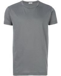 Camiseta con cuello circular gris de Tomas Maier