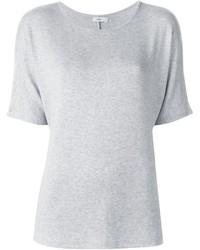 Camiseta con cuello circular gris de Vince
