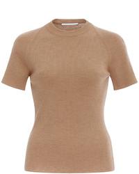 Camiseta con Cuello Circular Marrón Claro de Rosetta Getty