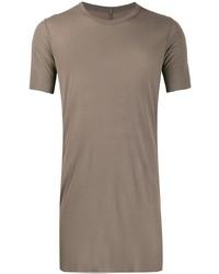 Camiseta con cuello circular marrón de Rick Owens