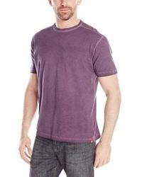 Camiseta con cuello circular morado de Agave