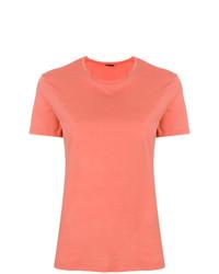 Camiseta con cuello circular naranja de Aspesi