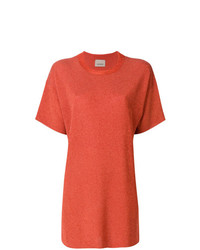 Camiseta con cuello circular naranja de Laneus