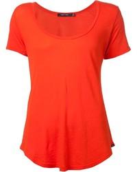 Camiseta con cuello circular naranja de Obey