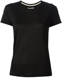 Camiseta con cuello circular negra