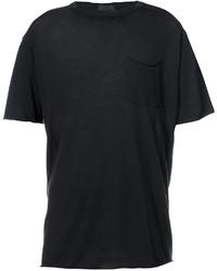 Camiseta con cuello circular negra de ATM Anthony Thomas Melillo