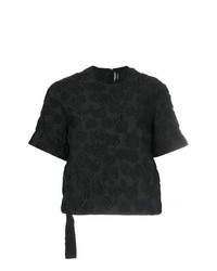 Camiseta con cuello circular negra de Calvin Klein 205W39nyc