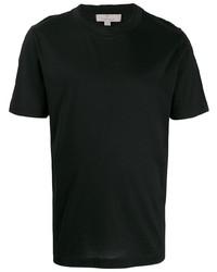 Camiseta con cuello circular negra de Canali