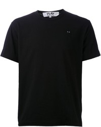 Camiseta con cuello circular negra de Comme des Garcons