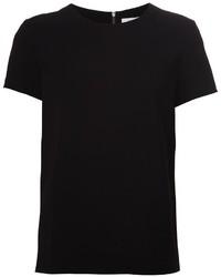 Camiseta con cuello circular negra de Diane von Furstenberg