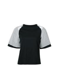 Camiseta con cuello circular negra de Facetasm