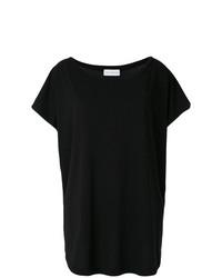 Camiseta con cuello circular negra de Faith Connexion