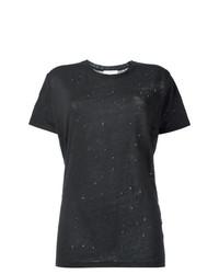 Camiseta con cuello circular negra de IRO