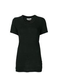 Camiseta con cuello circular negra de Isabel Marant Etoile