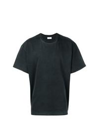 Camiseta con cuello circular negra de John Elliott