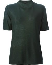 Camiseta con cuello circular negra de Joseph