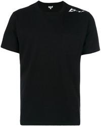 Camiseta con cuello circular negra de Kenzo