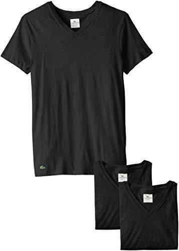 50470f7486f ... Camiseta con cuello circular negra de Lacoste ...