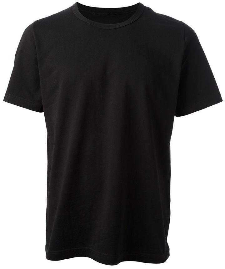 Camiseta con cuello circular negra de Maison Martin Margiela