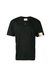 Camiseta con cuello circular negra de Maison Mihara Yasuhiro