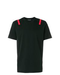 Camiseta con cuello circular negra de Neil Barrett