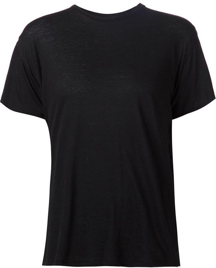 Camiseta con cuello circular negra de R 13