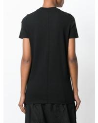 Camiseta con cuello circular negra de Rick Owens DRKSHDW