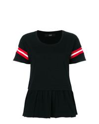 Camiseta con cuello circular negra de Steffen Schraut