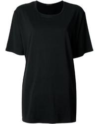 Camiseta con cuello circular negra de The Row