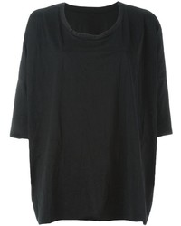 Camiseta con cuello circular negra de Y's