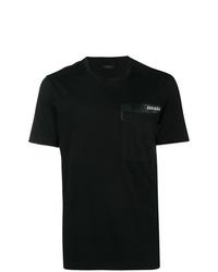 Camiseta con cuello circular negra de Z Zegna